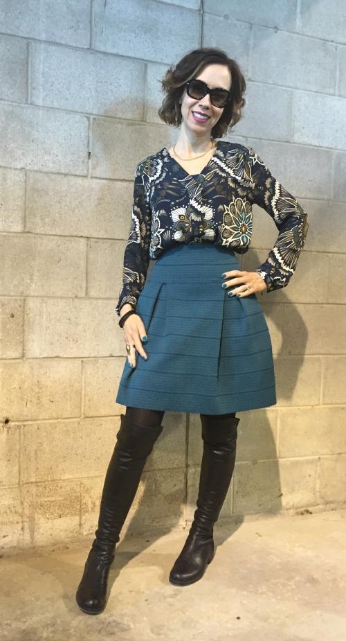 spring-blouse-floral-teal-skirt