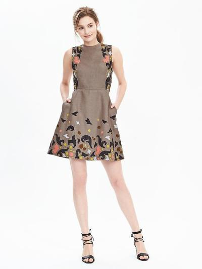 embroidered shift dress$280